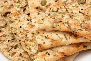 نان با سبزی خشک